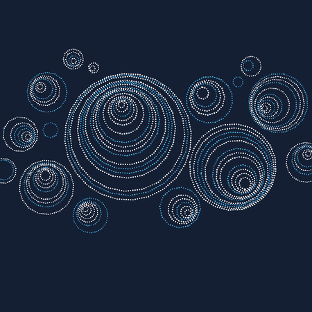 luxury abstract circle and ring header design. modern dot and spot surface design for greeting card, fashion decor, print Ilustração