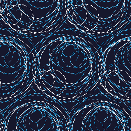 discrete: luxury abstract circle and ring seamless pattern. modern dot and spot surface design for wrapping paper, wallpaper, fabric and fashion Illustration