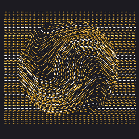 expansive: line and dot concept minimalistic geometry surface design. abstract modern background with drop movement trace in gold luxury style