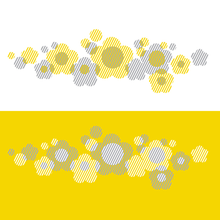 Yellow concept geometry style floral vector illustration. Abstract flower design element for invitation, packing, surface design, cards, poster, header. Illustration