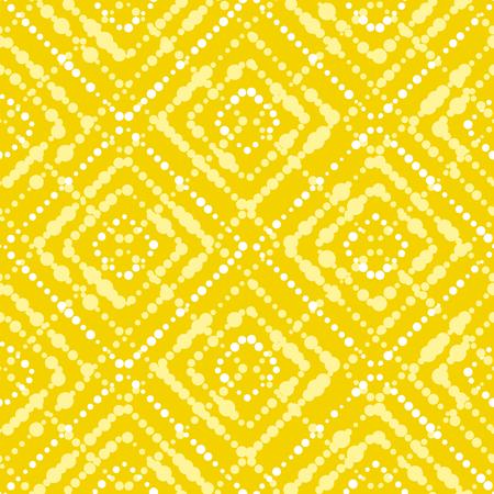 Wit en geel van het de zetterconcept van de verfpunt de zomer naadloos patroon Modern dynamisch abstract herhaalbaar motief in de zomer zonnige kleur. Vectorillustratie voor oppervlakteontwerp, stof, verpakkend document, achtergrond.