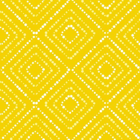 Wit en geel van het de zetterconcept van de verfpunt de zomer naadloos patroon Modern dynamisch abstract herhaalbaar motief in de zomer zonnige kleur. Vectorillustratie voor oppervlakteontwerp, stof, verpakkend document, achtergrond. Vector Illustratie