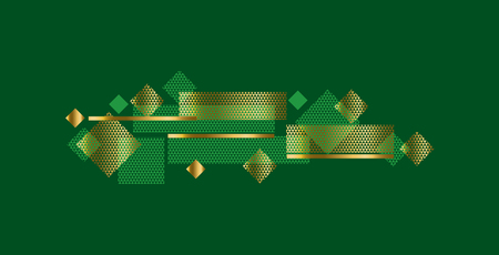 Geometry modern style concept background with deep luxury color and gold. Abstract dynamic vector composition for web and print design