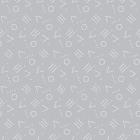 awkward: Modern style chaotic repeatable motif. Simple line and circle elements seamless pattern for surface design, fabric, wrapping paper. Illustration