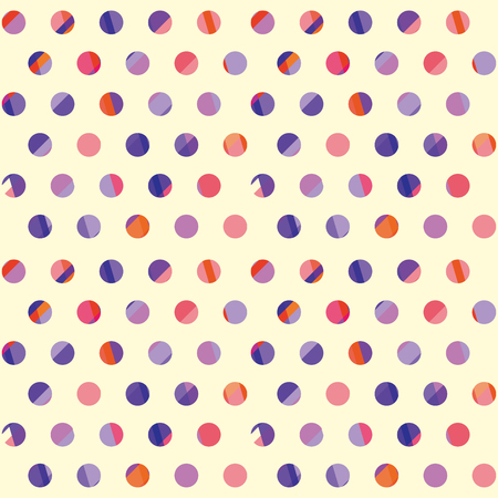 concept modern polka dot seamless pattern, surface design for background, fabric, wallpaper. geometry dots repeatable motif vector illustration