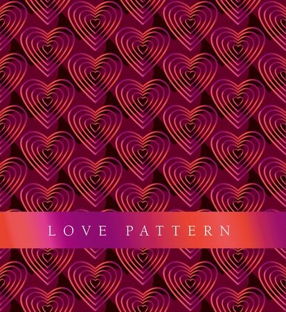 vector pink pattern with art heart