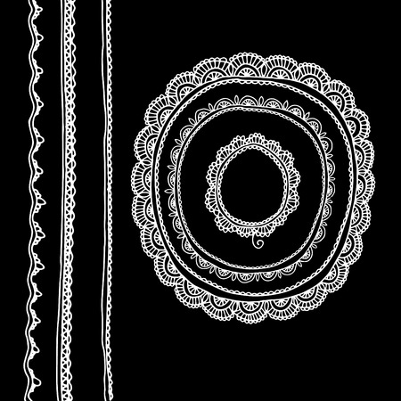 boho style lace design element. vector illustration lace. hand made vector lase.