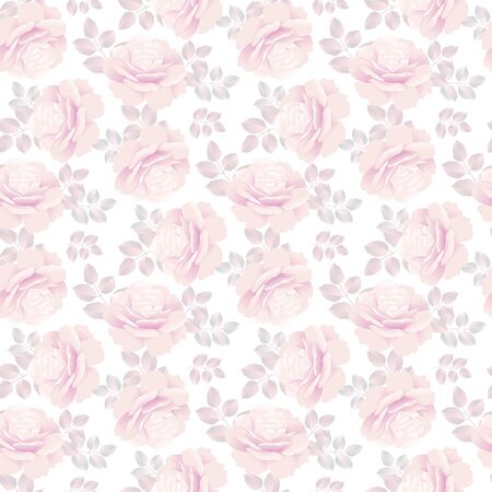 pale rose pattern vector illustration