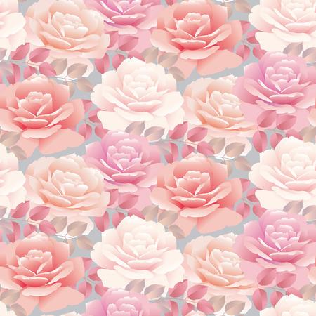 Pale color rose vector template illustration