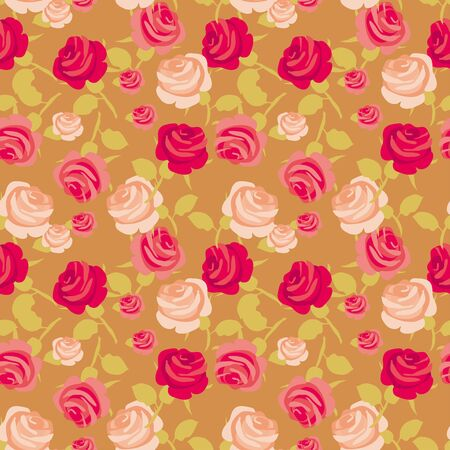 Retro style rose vector illustration