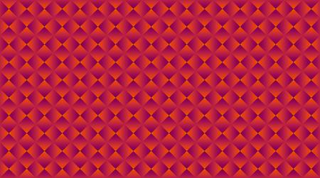 표면 디자인에 대 한 기하학적 추상 벡터 원활한 패턴. 배경에 대한 밝은 빨간색 사각형 모양의 반복 가능 모티브 일러스트