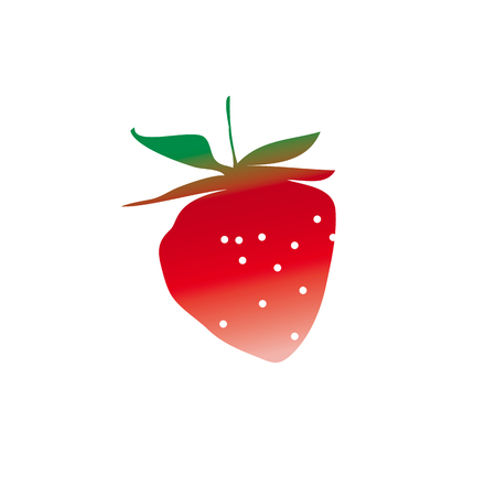 A strawberry design element. ripe summer berry modern style icon.