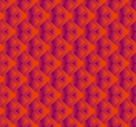 표면 디자인에 대 한 기하학적 추상 벡터 원활한 패턴. 배경에 대 한 밝은 빨간색 사각형 모양 반복 모티브.