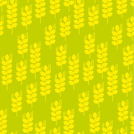 A Vector seamless pattern with wheat ears and grains. Geometry concept modern repeatable motif. Illustration