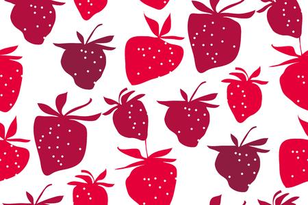 gritty: Strawberries seamless pattern.