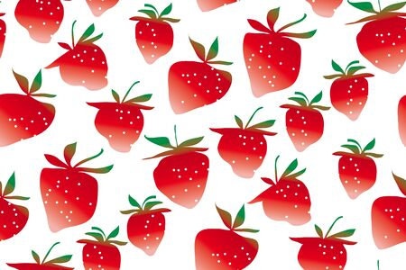 Strawberries seamless pattern on white background. concept summer berries repeatable motif for surface design
