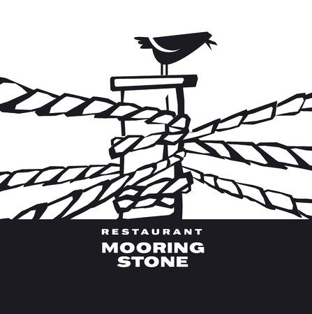 鳥のアイコン、ロゴ、サインにシンプルなレトロ スタイルのほくろ。シルエット ベクトル図  イラスト・ベクター素材