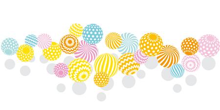 pale colors: modern summer pale color geometry design element. vector illustration. Print and web surface design template for card, invitation, poster, header Illustration