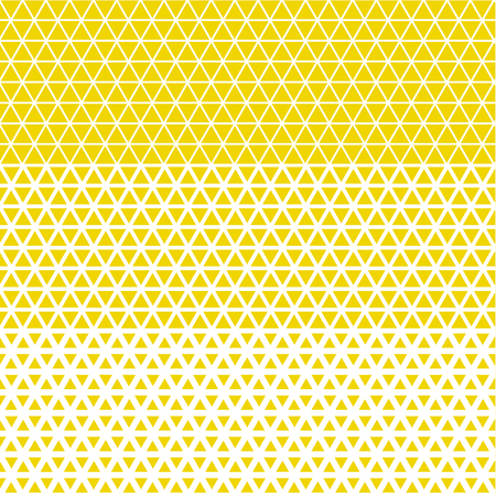 Simple geometry pattern with line mash. Modern geometry seamless pattern vector illustration. Surface design for print and web. Grid style triangle yellow motif
