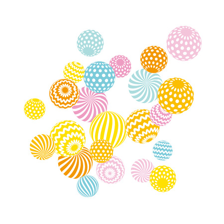 scattering: modern summer pale color geometry design element. vector illustration. Print and web surface design template for card, invitation, poster, header Illustration