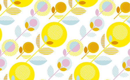 modern summer pale color floral seamless pattern vector illustration. Print and web surface design template for background, wrapping paper, fabric Illustration