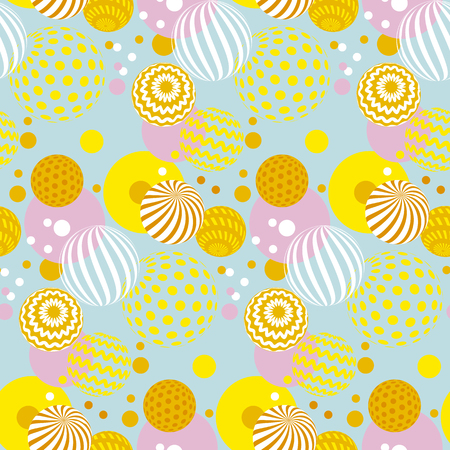 Abstract round contemporary pattern for surface design.