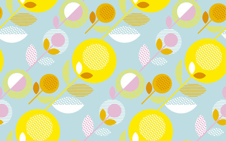 Floral contemporary summer color pattern for surface design. Illustration
