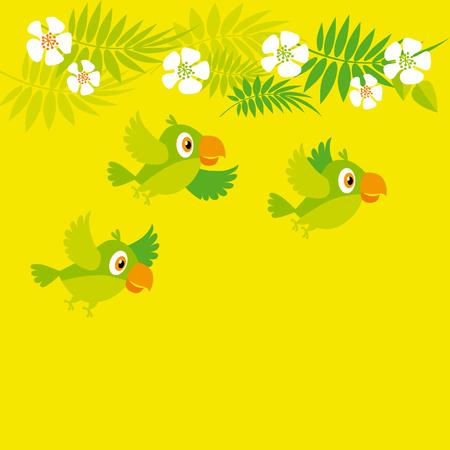 bright color parrot vector illustration Illustration