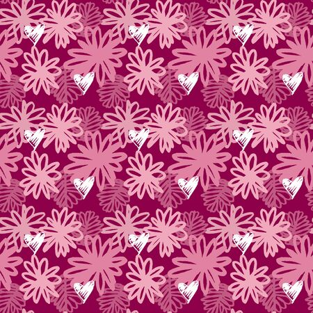 vector seamless pattern of tropical floral