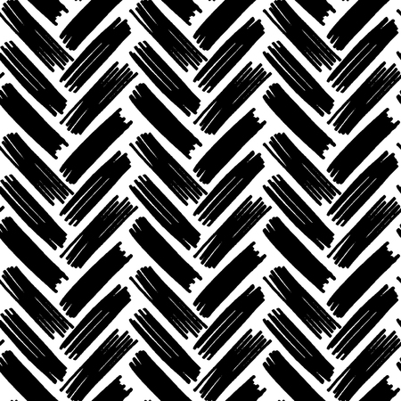 Track seamless black and white pattern vector illustration