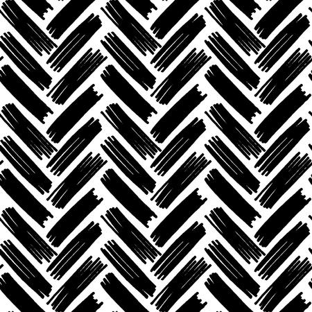 Volg naadloze zwart-wit patroon vectorillustratie