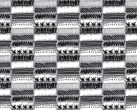 Hand made black and white texture vector illustration Illustration
