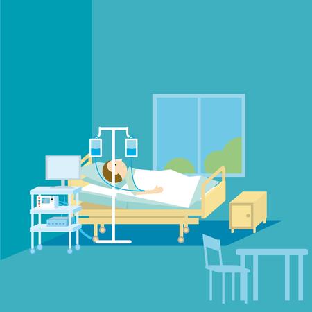 Terapia médica simple ilustración vectorial