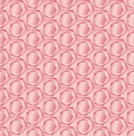 Rose hexagon light 3d geometric pattern
