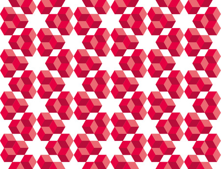 Cube geometry concept. seamless pattern vector illustration