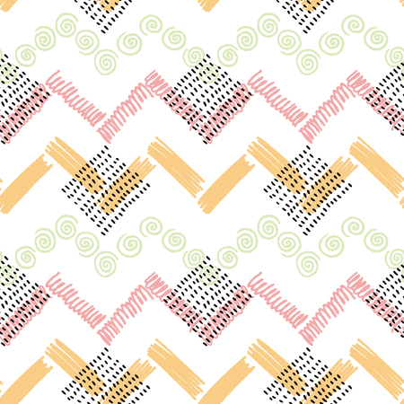 Abstract color vector seamless pattern. illustration background Illustration