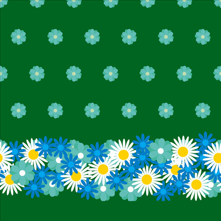 calico: simple cotton meadow seamless pattern