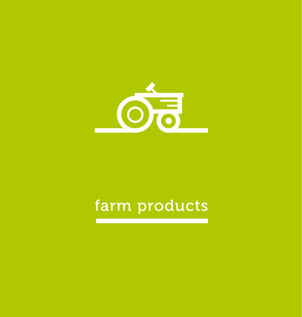 tractor white icon. simple vector illustration.