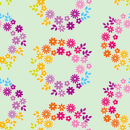 calico: color meadow flowers seamless pattern. vector illustrstion of deisy floral swatch