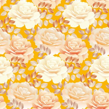 Modèle sans couture de couleur perle jaune rose. illustration vectorielle de swatch répétable Banque d'images - 81566578