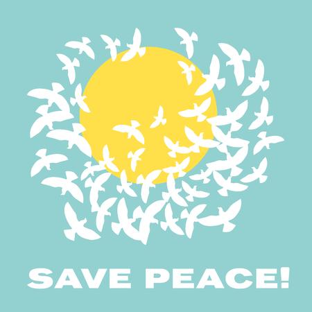 Konzeptvektorillustration des Friedens tauchte im Himmel Standard-Bild - 81566584