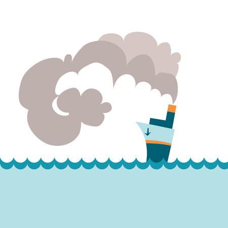steamship: simple steamship vector illustration Illustration