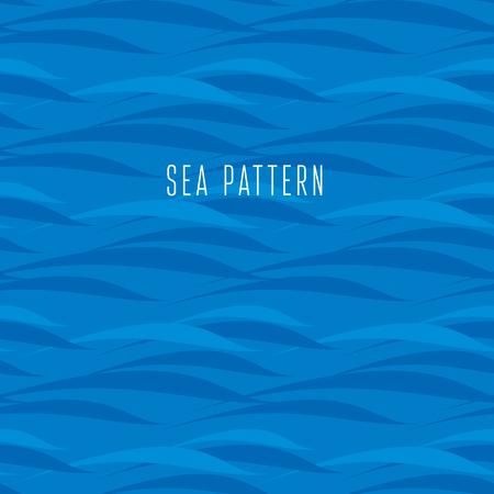 シームレスな水のパターン。ベクトル図