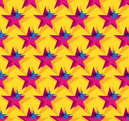 vector star seamless pattern