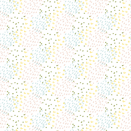 layered: modern doodle hand drawn seamless pattern. creative fabric repairable print in pale tender colors Illustration