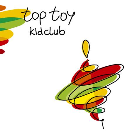 Illustrazione vettoriale di colore simbolo giocattolo di filatura Vettoriali