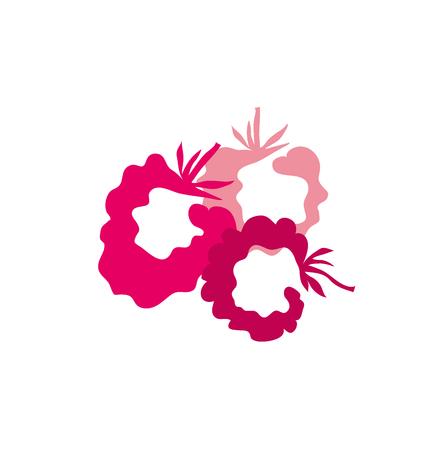 vermeil: mulberry berry simple decorative symbol. vector illustration