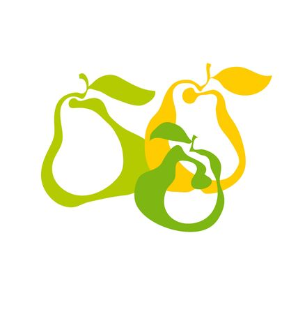 pear fruit simple decorative icon. vector illustration