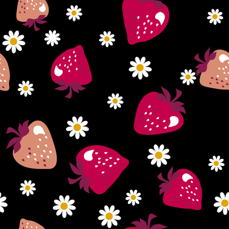 strawberry  seamless pattern. vector illustration.