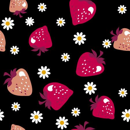 assortment: strawberry  seamless pattern. vector illustration.